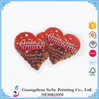 China Paper Jeans Hang tag Custom Printing Swing Tag Hang Tag