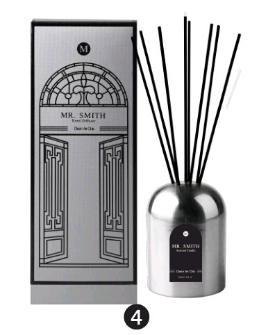 high quality reed diffuser with rattan stick in metal bottle