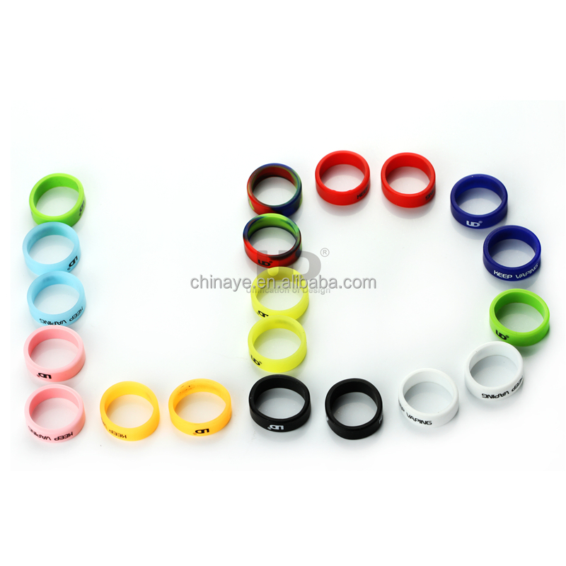 UD Replacement Beauty Ring for Atomizer Protect Decoration Ring Silicon Rubber Vapeband for E Cigarettes 20PCS UD Vape band Set