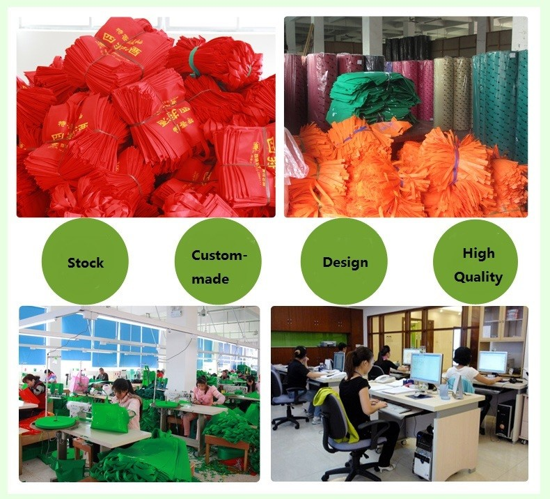 Full Printing Cheap Style Printing Disposable Nonwoven Cloth Bag