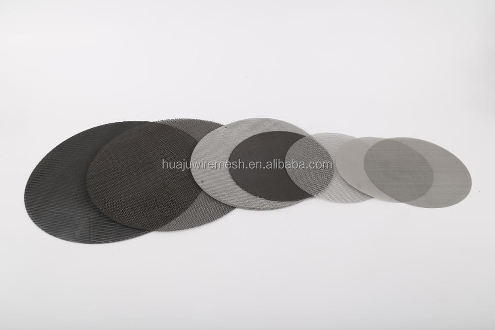 24*110 Mesh 100 Micron Black Wire Cloth Filter Disc For Plastic ...