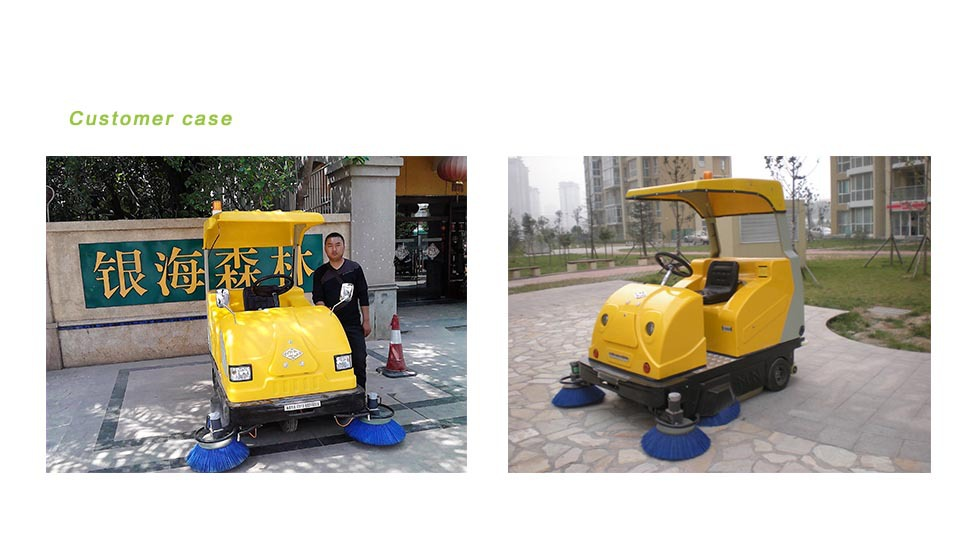 The use of electric road sweeper