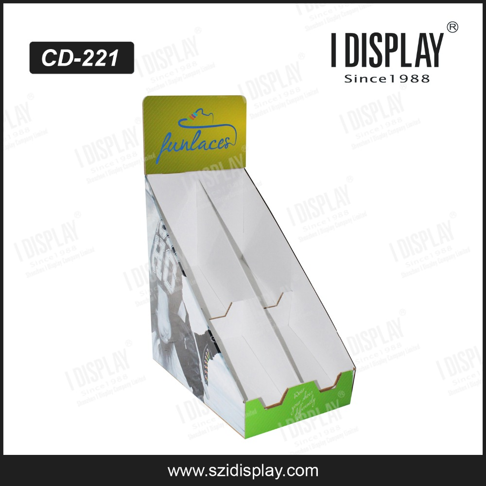 alibaba custom sneaker cardboard made counter display plimsolls shoes pdq