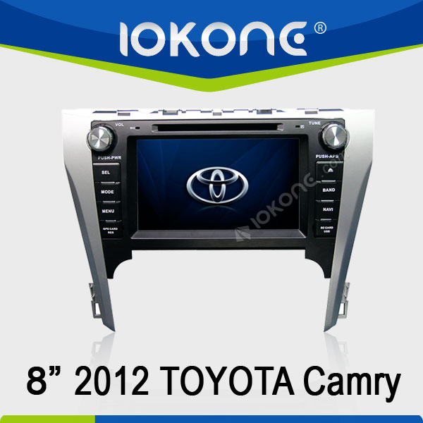 2012 Toyota Camry touch screen car dvd player gps navigator with roadio bluetooth RDS Ipod