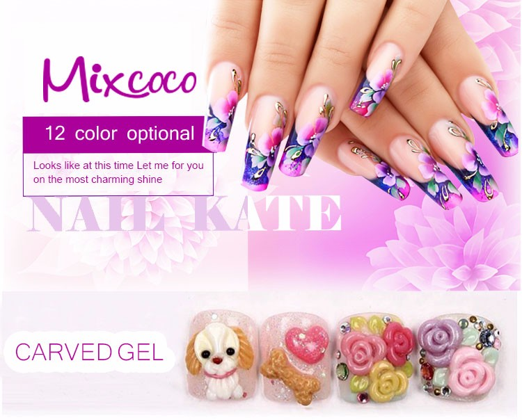 mixcoco personalized art supplies 3d carving gel nail gel uv led