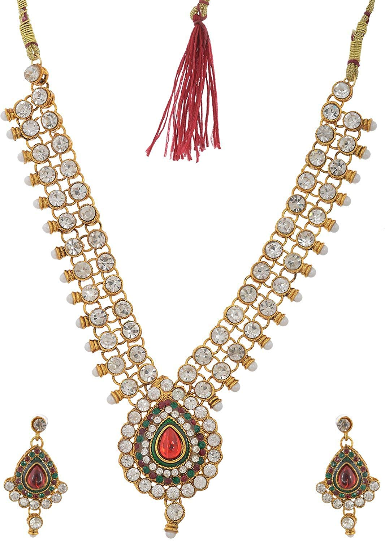 Handicraft Kottage Women's Fashion Jewelry Gold Metal Necklace (HK-ANSG210)