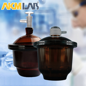 AKM LAB Amber Vacuum Desiccator With Porcelain Plate