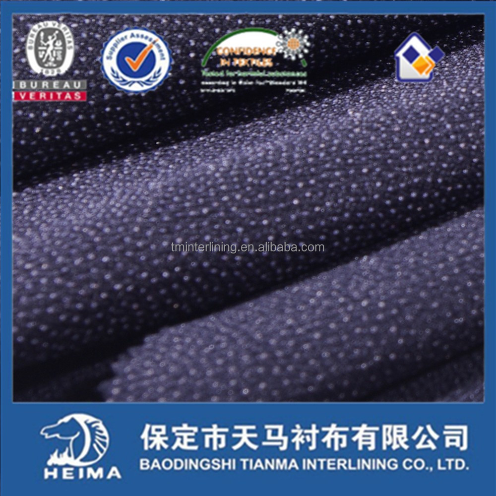 best selling 2/2 twill woven fusible interlining fabric