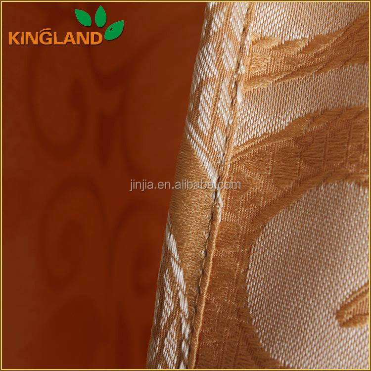 Luxury design polyester Jaquard Curtain Fabric for home textile
