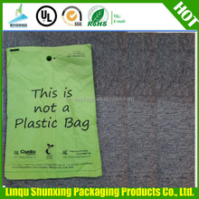 pull dog waste bag / yellow dog poop bag