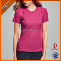 Stylish design plain organic cotton t-shirts women blank cheap wholesale bulk custom