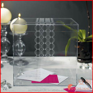 Clear Acrylic Wedding Wishing Well Card Box