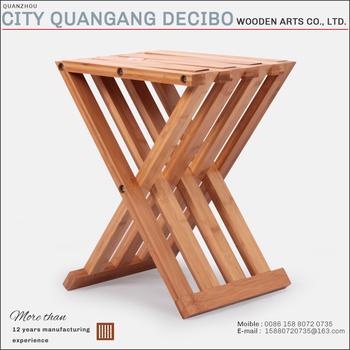 2017 cheap modern portable small folding chair wooden bamboo camping