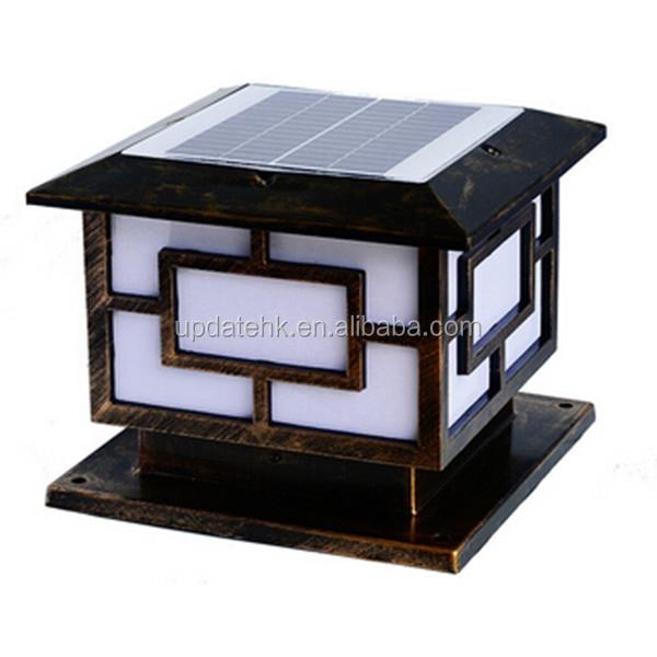 16led 3w outdoor pillar gate lights solar power light solar pillar