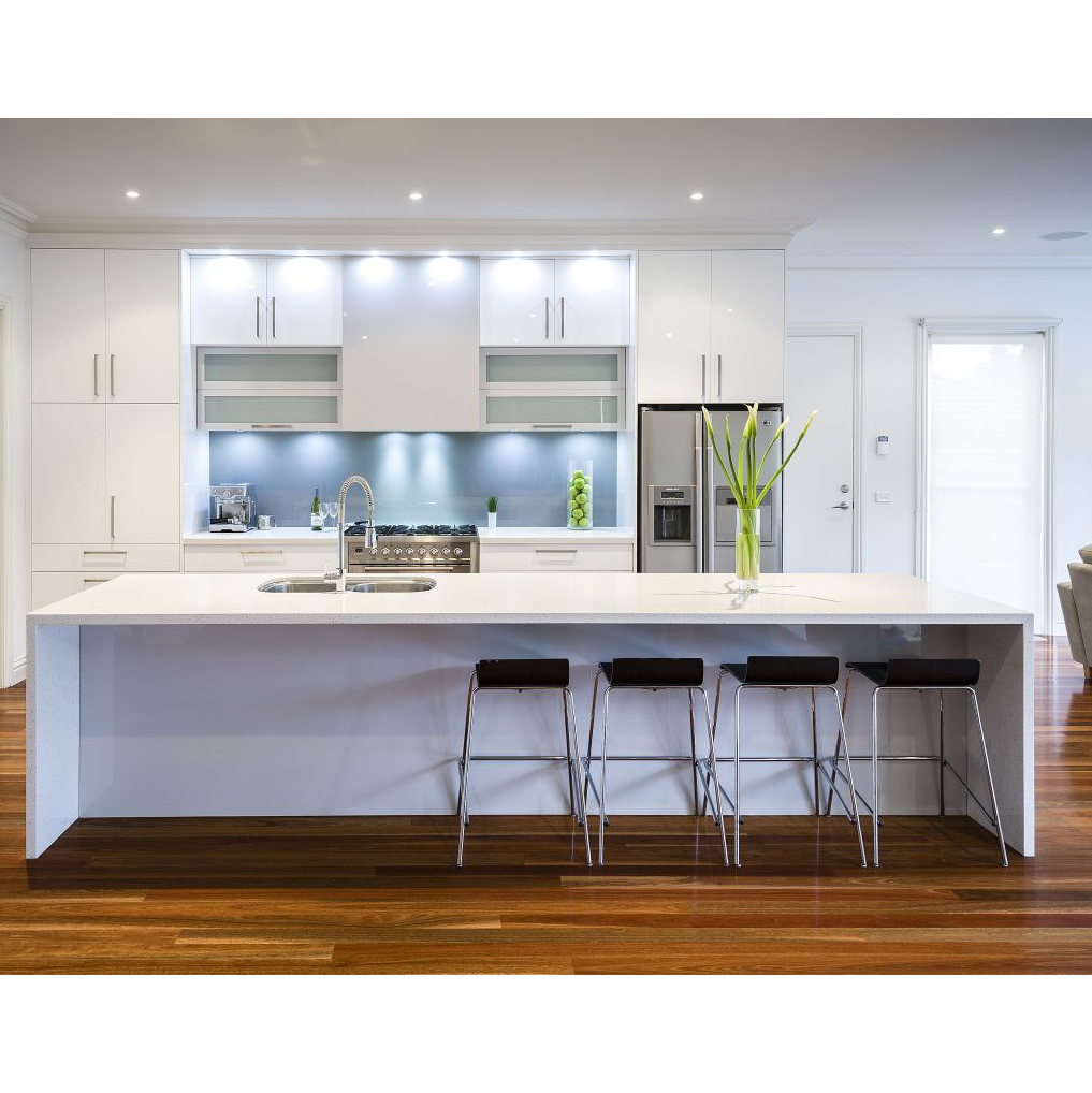 High Quality Luxury Pre Assembled Fiberglass Wood Kitchen Cabinets Paint  Colors Made In China - Buy Fiberglass Kitchen Cabinets,Pre Assembled  Kitchen ...