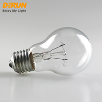 Hot Sales A55 A60 A19 25W 40W 60W 75W 100W 110V 220V B22 E27 3000K Vintage Light Bulb Clear Frosted Incandescent lamp , INC-A55