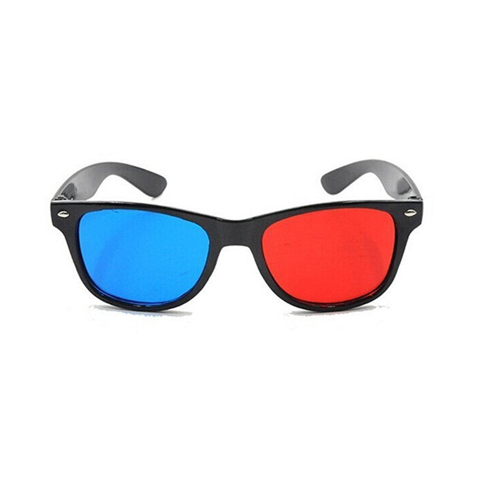 6abdb39ef6b Get Quotations · DierCosy Blue and Red 3D Eyeglasses Cyan Anaglyph Simple  Style 3D Glasses Extra Upgrade Style to