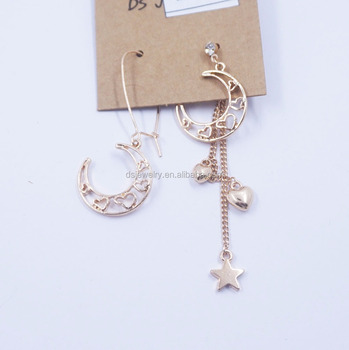 New Design Mens Earring Tanishq Diamond Brazilian Gold Moon Earrings