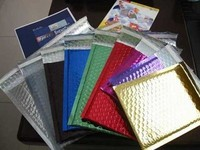 colored Metallic bubble mailer / Aluminized foil bubble envelope fitting for DVD
