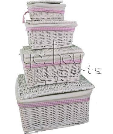storage baskets set of 3 in white wash - Decorative Storage Baskets