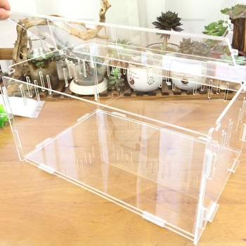 noble design and graceful shape with confortable facility acrylic toad cages