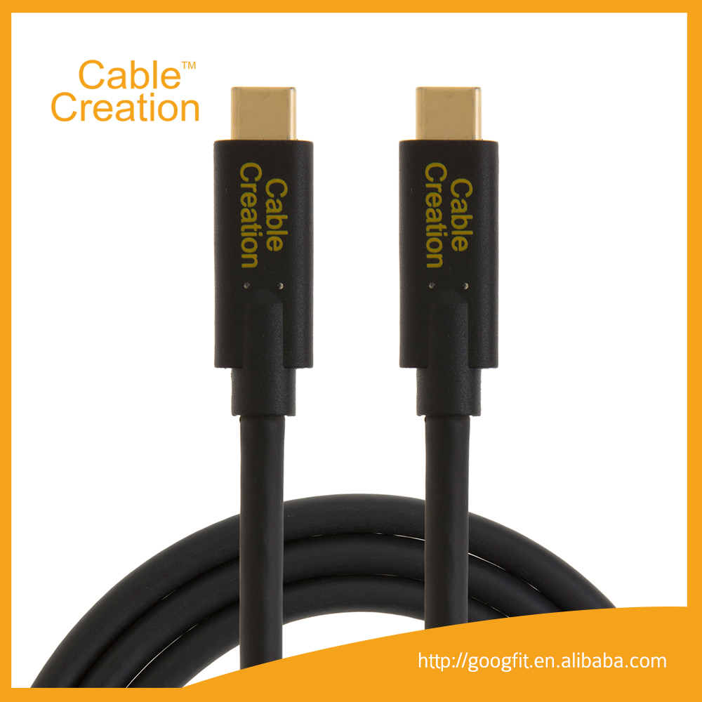 1.6FT Super Speed Gen 2 (10Gbps) USB 3.1 Type C Male to Male Cable Black