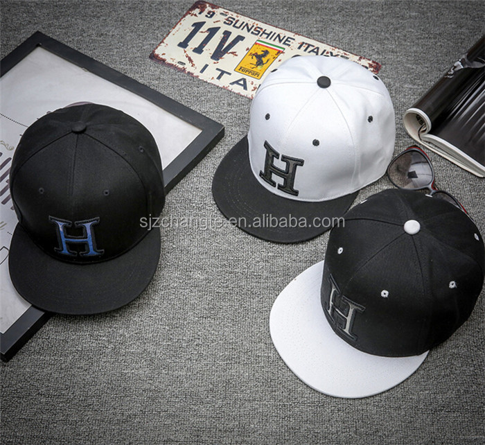 Embroidery letters H snapback hats three colors new design snapback hats