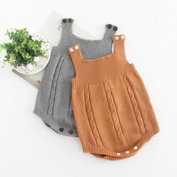 ed56b3010 0-24m Baby Knitting Rompers Cute Overalls Newborn Autumn Baby Boys ...