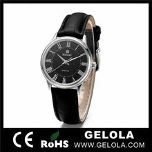 new style Merchandise Excellence from gelola watch factory ,fashion leather lady watch with stainless steel back watch case 316l