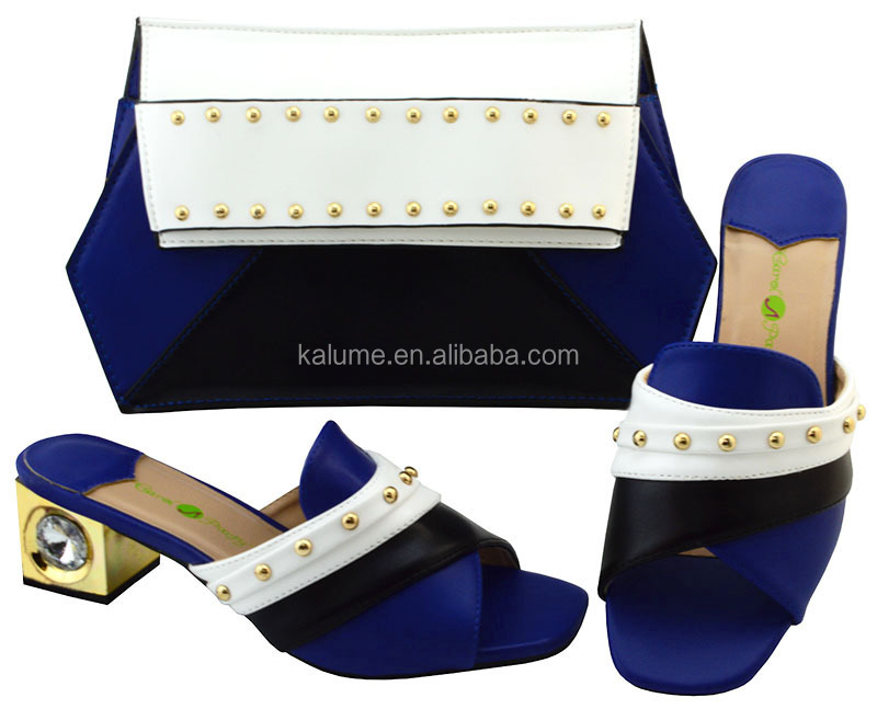 Blue Royal Italian High Heel Bag Italian Class Bag Matching Shoe YM002 Shoe Wedges With Matching Bag Set And Shoe Italy And Set rrd856wq