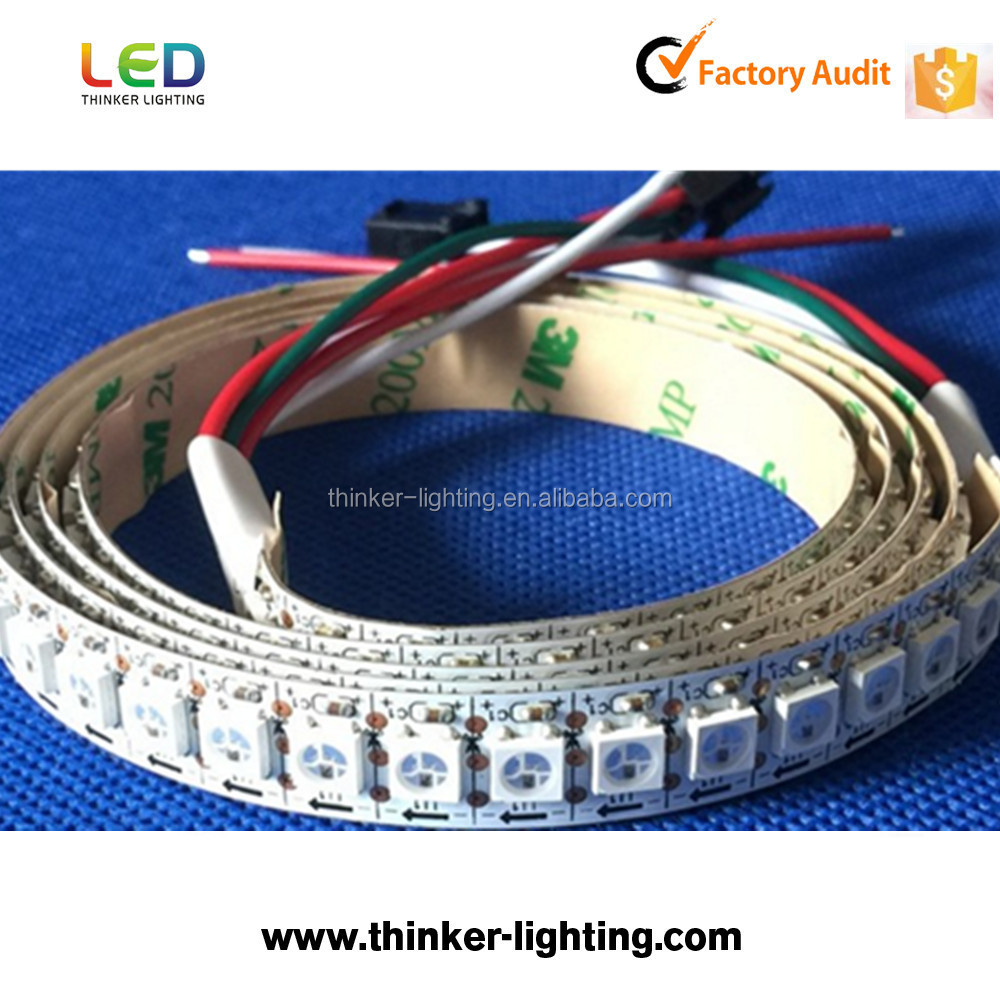 Built-in IC 144 leds/m smd epistar 5050 digital rgb 5v led strip ws2812b