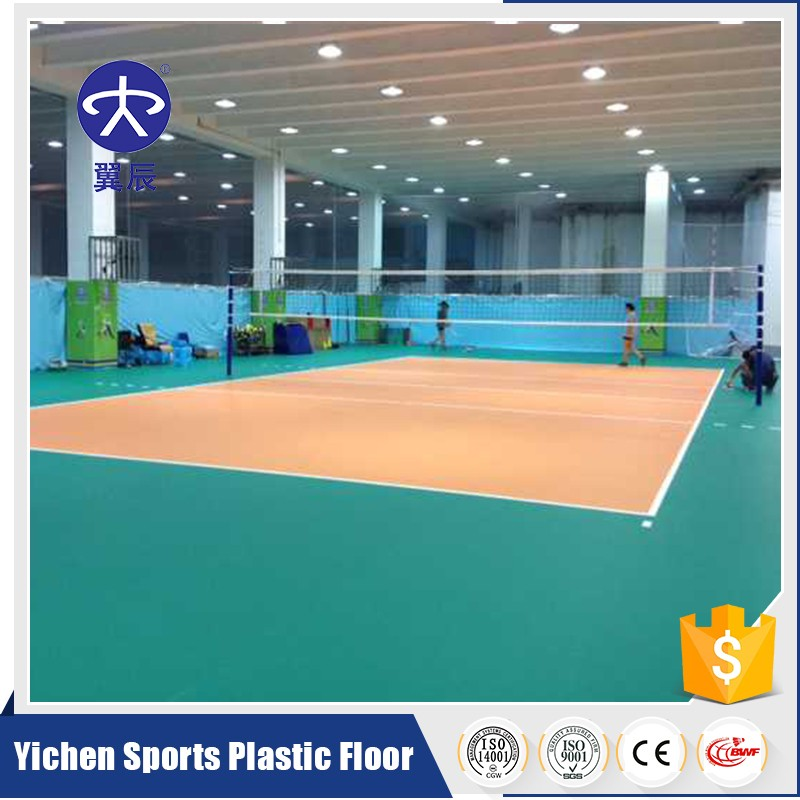 PVC Plastic Floor Used Volleyball Sports Court Covering