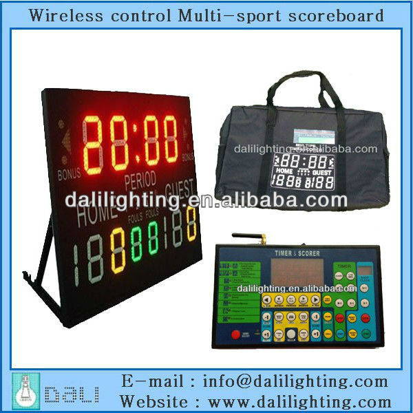 Champion Factory supplier scoreboard of scoring for basketball wrestling volleyball electronic score board digital
