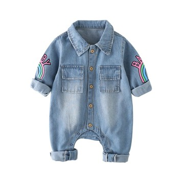 Hot Sale Exclusive Distributor China Online Shopping Of Denim New Born Baby Boy Clothes Romper