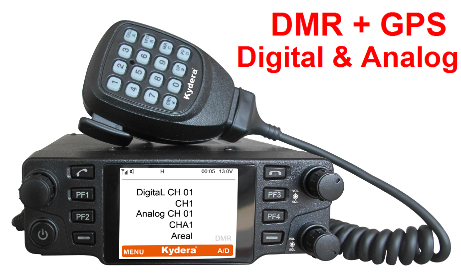 Kydera DMR 200 miglia walkie talkie e digitale mobile radio con gps CDM-550H