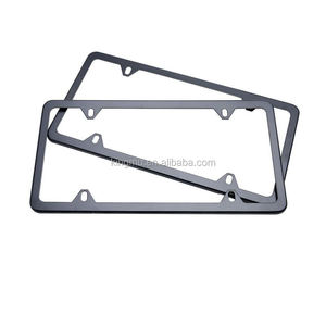 2pcs Stainless Steel Metal License Plate Frame