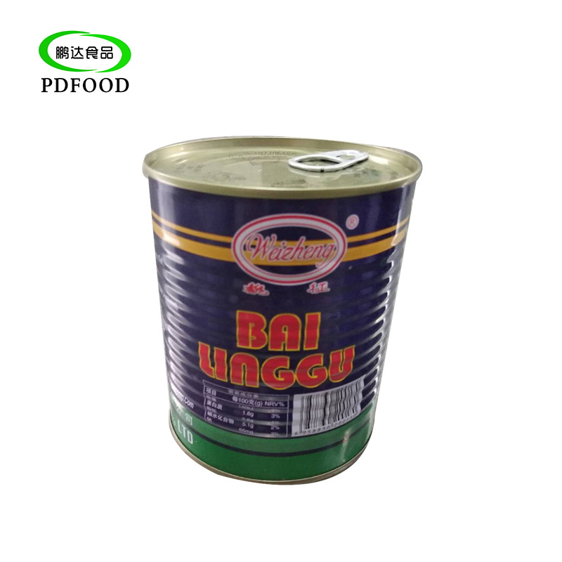 Food fresh canned mushroom piece and stems