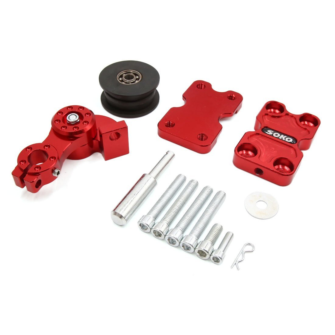 Buy Red Motorcycle Aluminum CNC Chain Adjuster Block 12mm