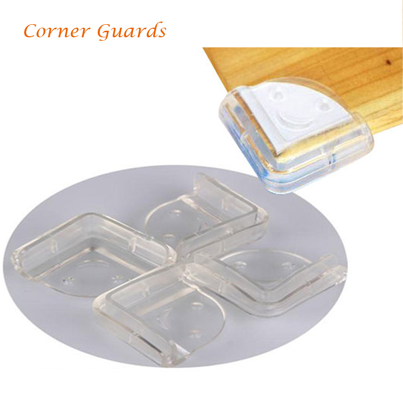 New 4pcs/lot Eco-friendly Edge & Corner Guards Safe Table Desk Furniture Corner Guard Baby Safety Free Shipping FCI#