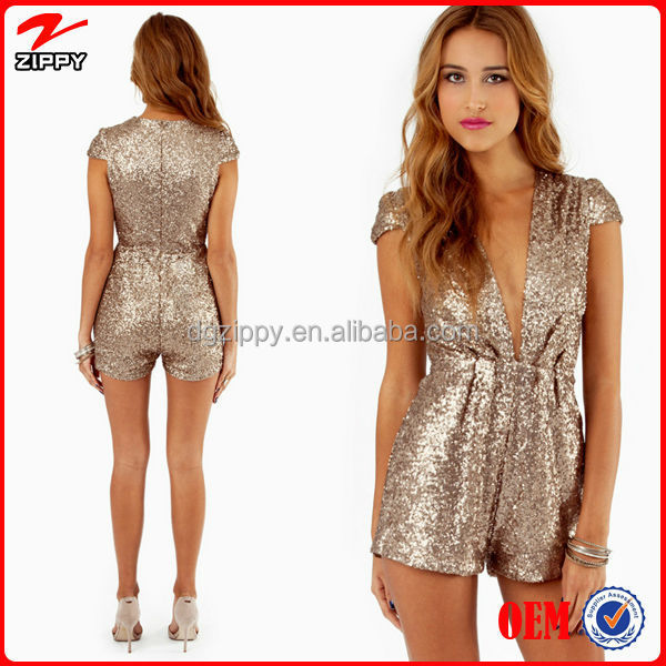 Women Matte Sequin Jumpsuits Clothing,Wholesale Women's Clothing ...