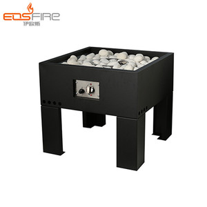 Most popular rectangular ventless propane fire pit table fireplace