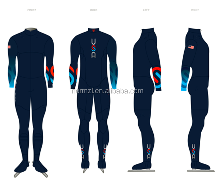 confortable sublimation custom short track speed skating suit speed racing suit