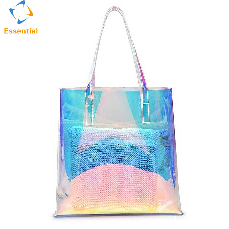 Fashion style new laser PVC tote bag