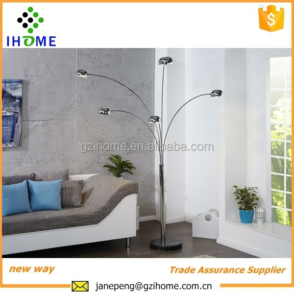 Ore 5 Arc Floor Lamp,Satin Nickel