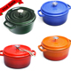 Kitchen Cookware Set Enamel Coating Cast Iron Dutch Oven With Different Color