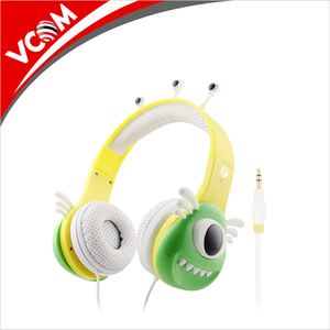 professional custom made children friendly cartoon funny headphones with monster design