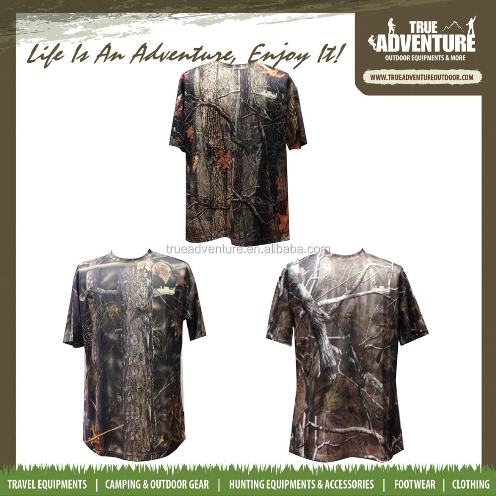 camouflage breathable hunting camping army military camo hunting short T shirt
