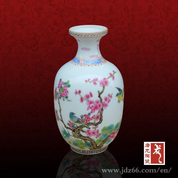 Ev Dekorasyon Handpainted çiçek Vazo Boyama Tasarımları Porselen