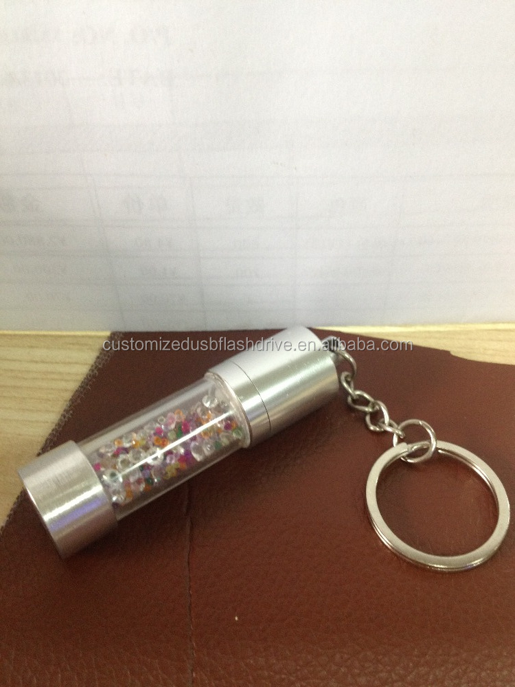 Promotional gift 2016 nice lujoso cristal flash memory stick pc/cristal usb gadget