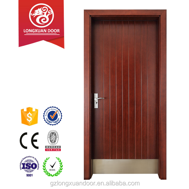 Plain type steel plate skirting protacted wooden door for interior room application